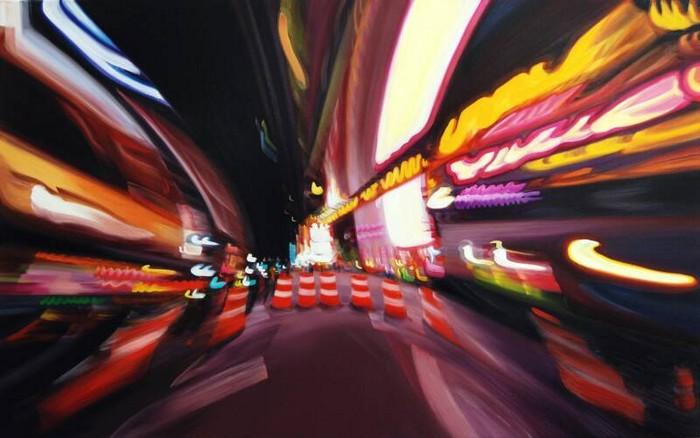 Пьянящее вдохновение ночного города в картинах Александры Пакулы