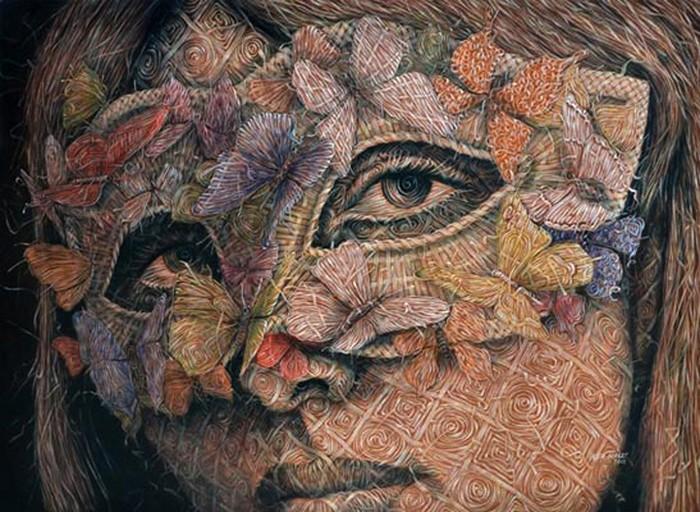 Живопись, напоминающая плетение. Картины Алекси Торреса (Alexi Torres)