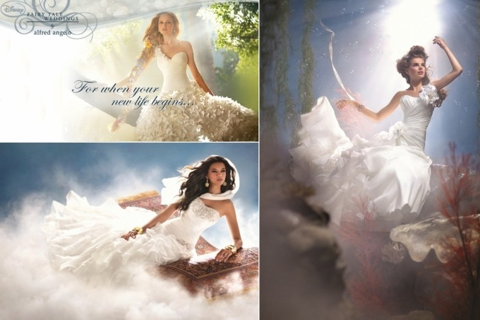 Disney Princess wedding dresses. Свадебные платья из сказок Уолта Диснея