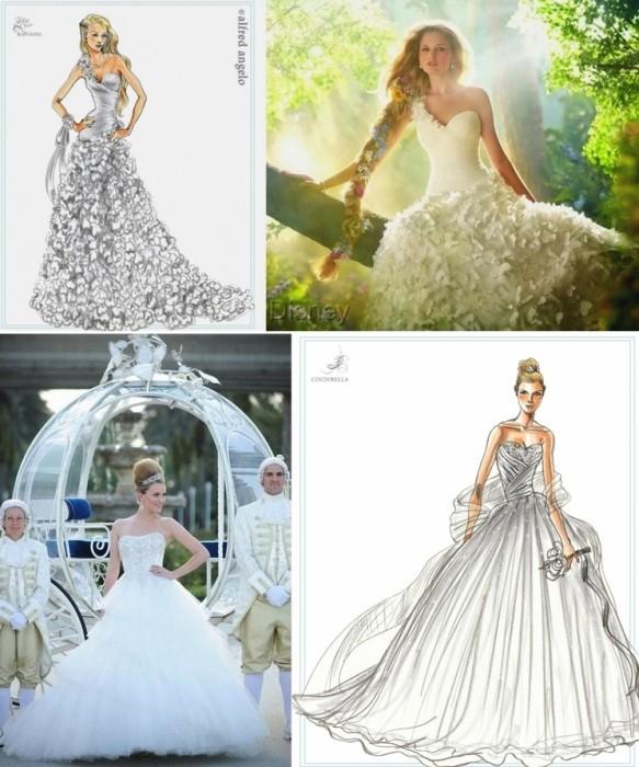 Свадебные платья из мультфильмов