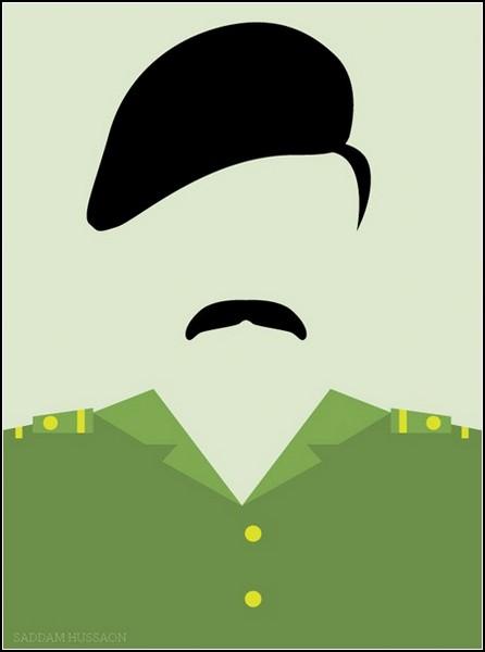 Саддам Хусейн в проекте минималистичных принтов Ali Al Sumayin