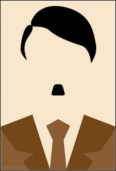 Схематический портрет Адольфа Гитлера
