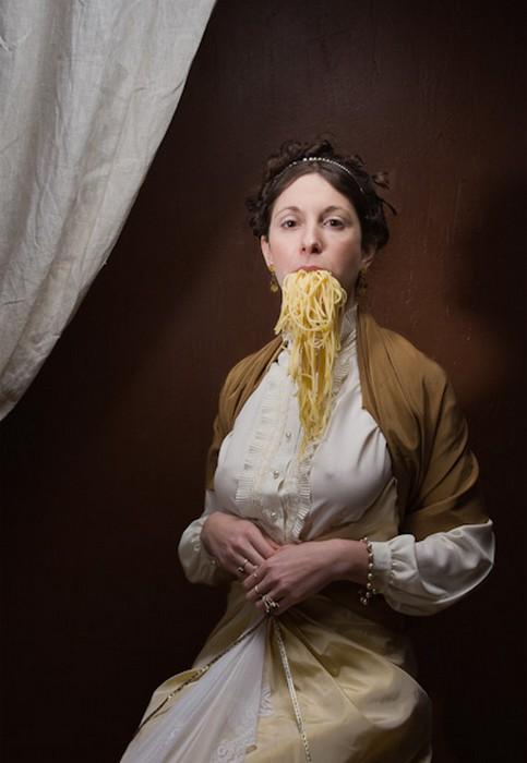 Портреты с макаронами. Фотографии Элисон Брэди (Alison Brady)