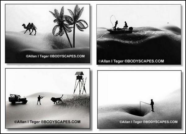 Bodyscapes: *ландшафтные* фотографии в стиле ню