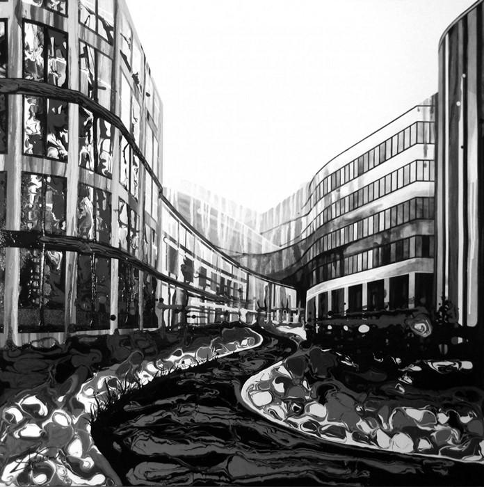 Картины Amy Shackleton, созданные при помощи гравитации