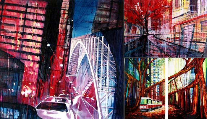 Картины Amy Shackleton, нарисованные без кисточек