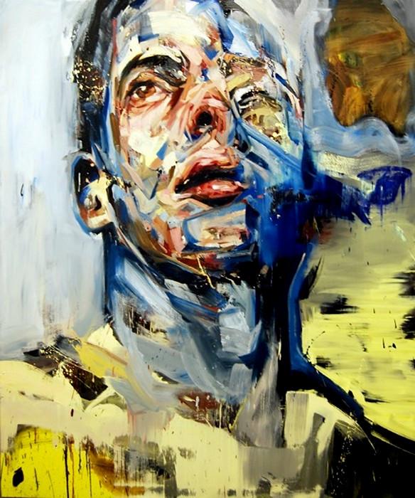 Хаотично-небрежные мужские портреты