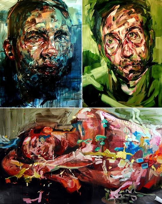 Агрессивная живопись  Эндрю Сальгадо (Andrew Salgado)