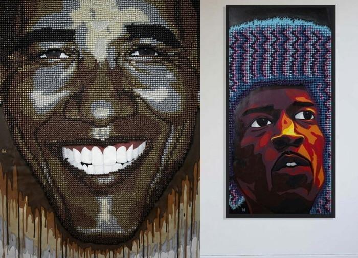Барак Обама в числе чернокожих знаменитостей с картин Andrew Woolery