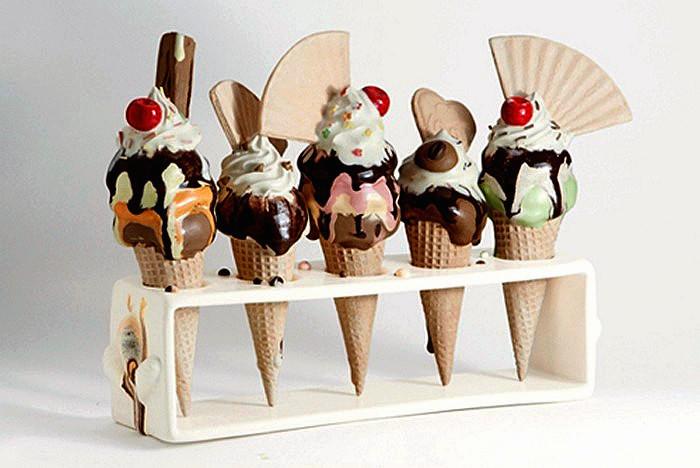 Десерты, которые нельзя съесть. Аппетитные скульптуры Анны Барлоу (Anna Barlow)