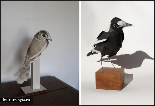 Скульптуры из бумаги, созданные Anna-Wili Highfield