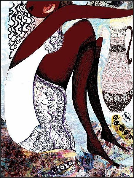 Этнические мотивы в картинах Anneli Akinde.