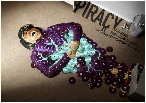 Творчество против пиратства. Арт-проект Anti-Piracy CD Art