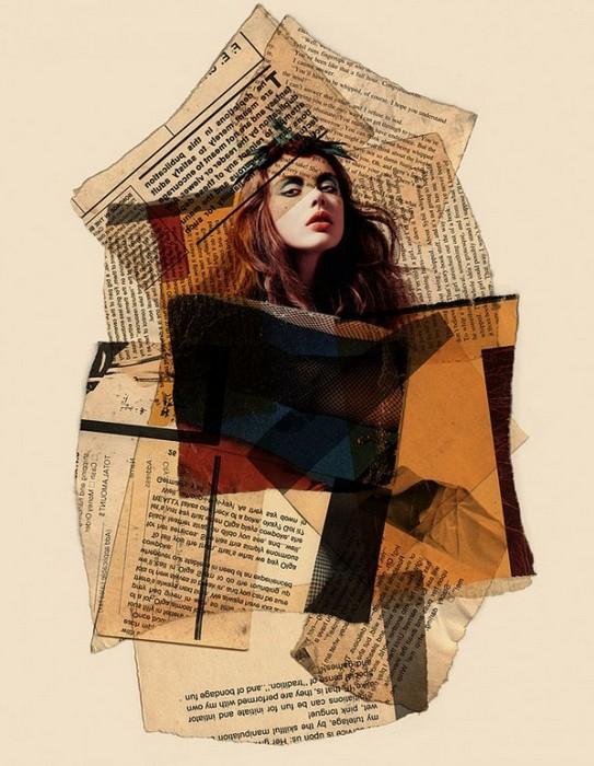 Коллажи в стиле mixed media от Ариана Бехзади (Arian Behzadi)