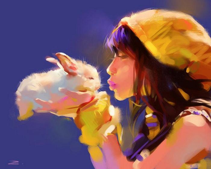 Картины Чжу Хайбо (Zhu Haibo), нарисованные на iPad