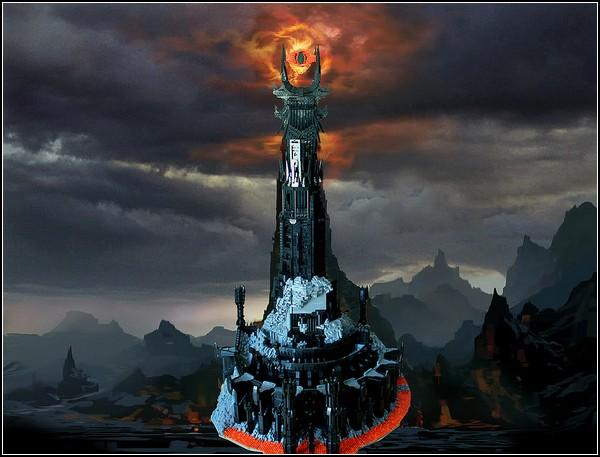 Barad-dur, башня Саурона, построенная из лего