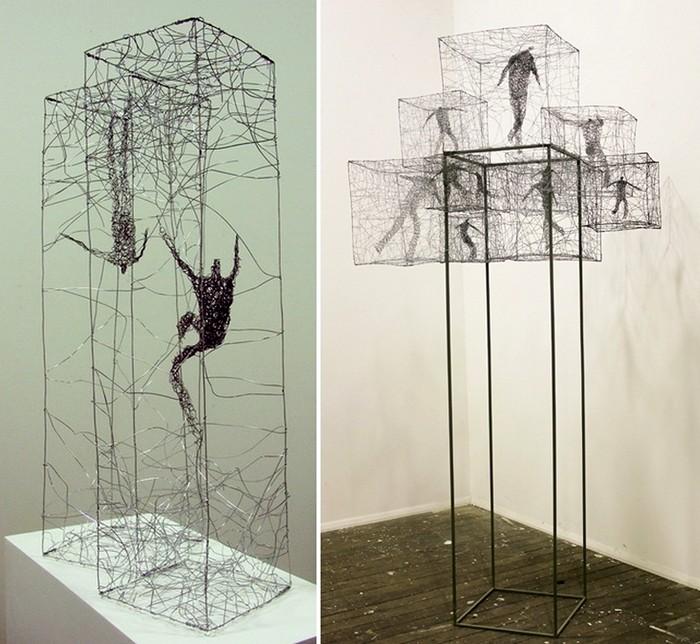 Скульптуры из проводов, искусство Барбары Лича (Barbara Licha)
