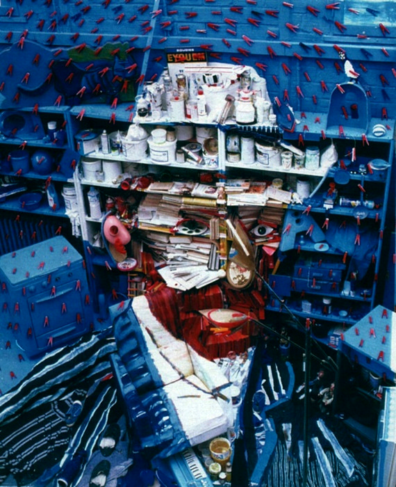 Инсталляции Бернарда Праса в виде портретов известных людей