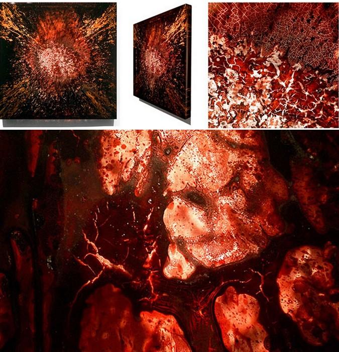 Картины из крови животных. Творчество художника Jordan Eagles