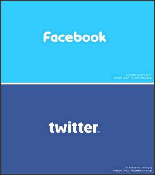 Facebook и Twitter - братья по стилю