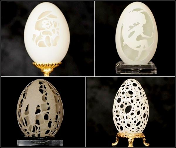 Резные яйца от Брайана Бейти (Brian Baity)