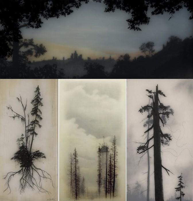 Удивительная многослойная живопись калифорнийского автора Брукса Шейна Зальцведеля (Brooks Shane Salzwedel)