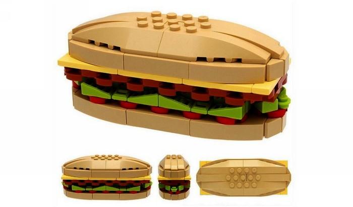 Копии еды и повседневных вещей из конструктора Лего. Миниатюры Брюса Лоуэлла (Bruce Lowell)