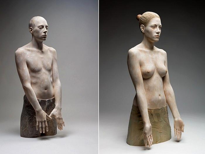 Ожившее дерево итальянского скульптора Бруно Уолпота (Bruno Walpoth)