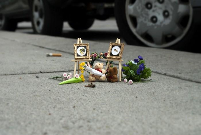 Мемориалы для погибших жуков от  Carmichael Collective