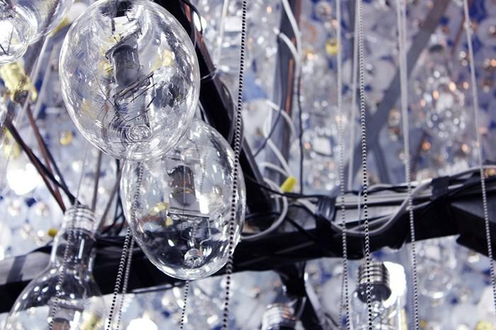 Облако из лампочек. Интерактивная инсталляция Cloud на фестивале Nuit Blanche