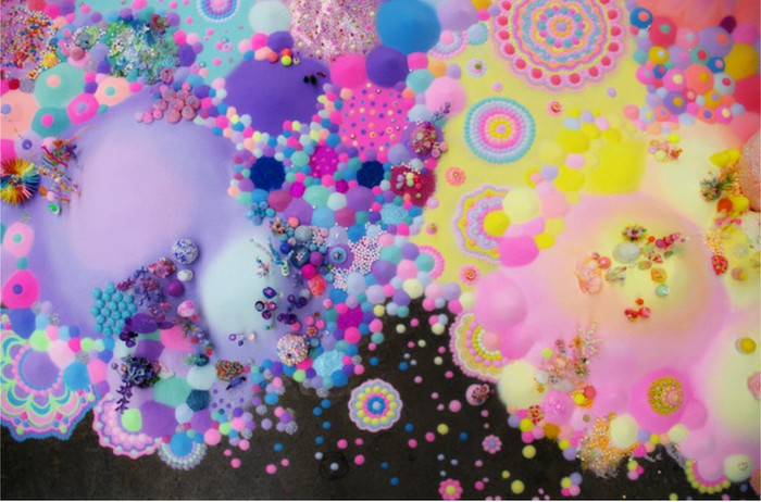 Сладкие неоновые миры от арт-дуэта Pip & Pop