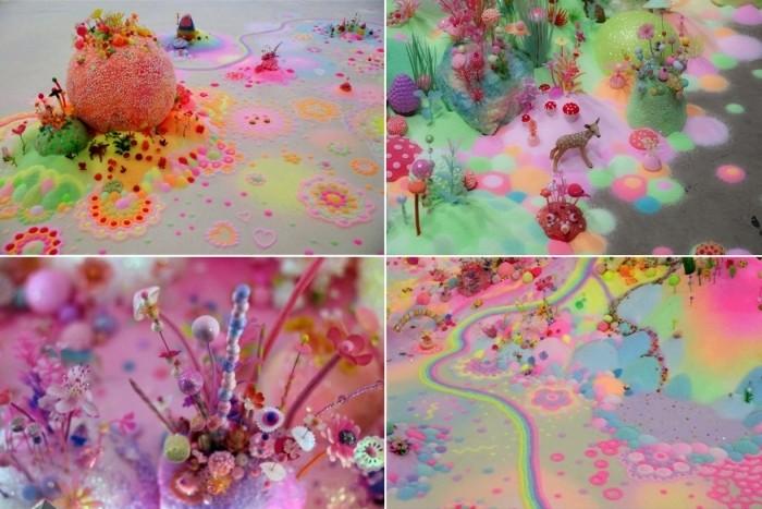 Невероятные фантастические инсталляции в стиле красочного японского поп-арта