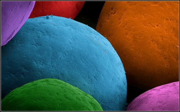 Макрофотография цветной присыпки для кексов