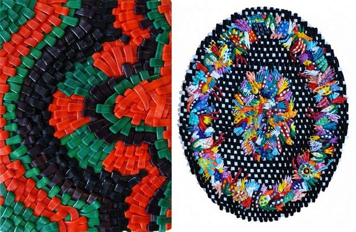 Картины Caroline Larsen, нарисованные *стежками* масляных красок