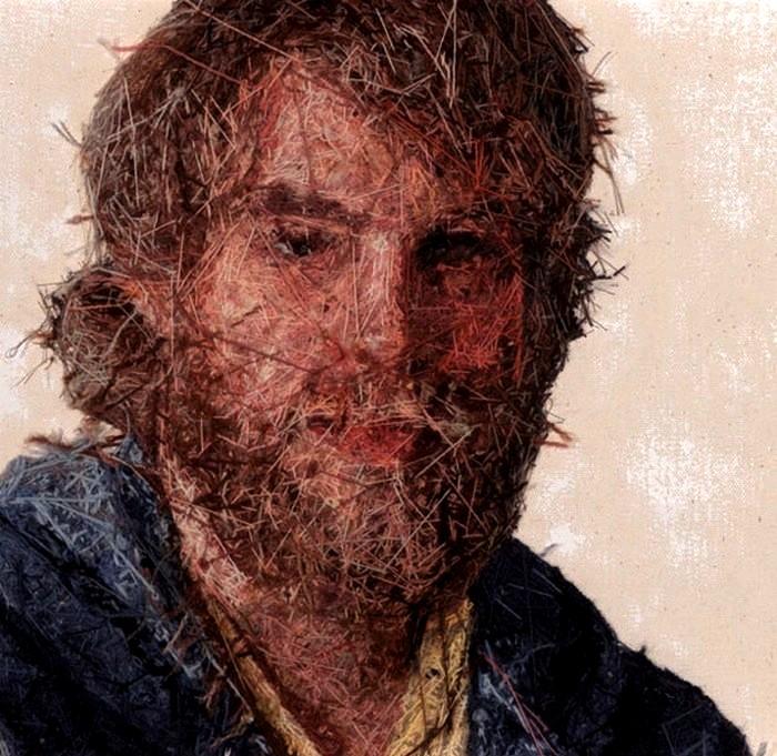 Живопись нитками по ткани. Вышитые портреты Кейси Завалья (Cayce Zavaglia)
