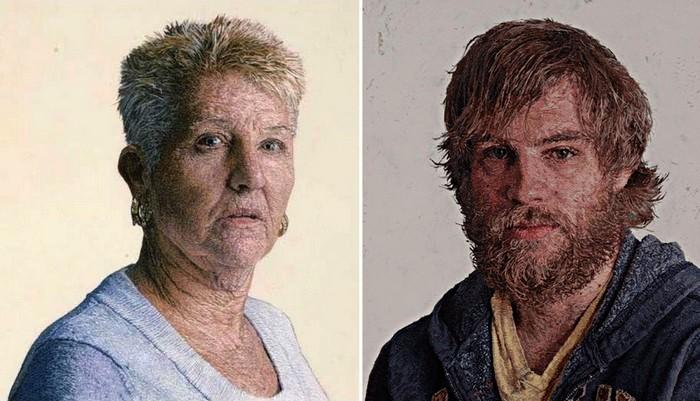 Портреты вышивка гладью