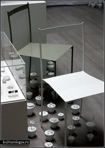 Инсталляция Chair Garden для рекламной кампании Nendo