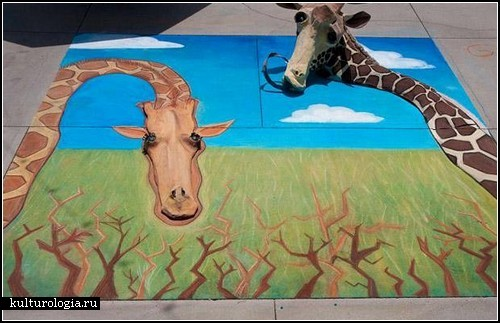 Фестиваль уличного рисунка Pasadena Chalk Festival