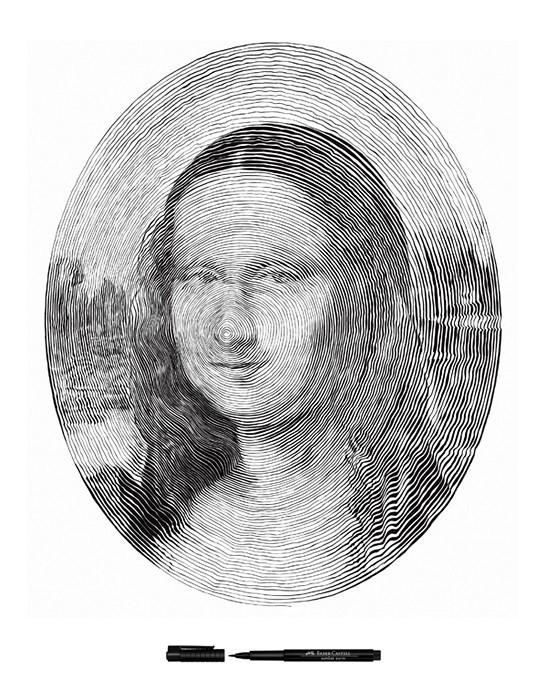 Спиральные иллюстрации Чан Чонг Хви (Chan Hwee Chong) для Faber Castell