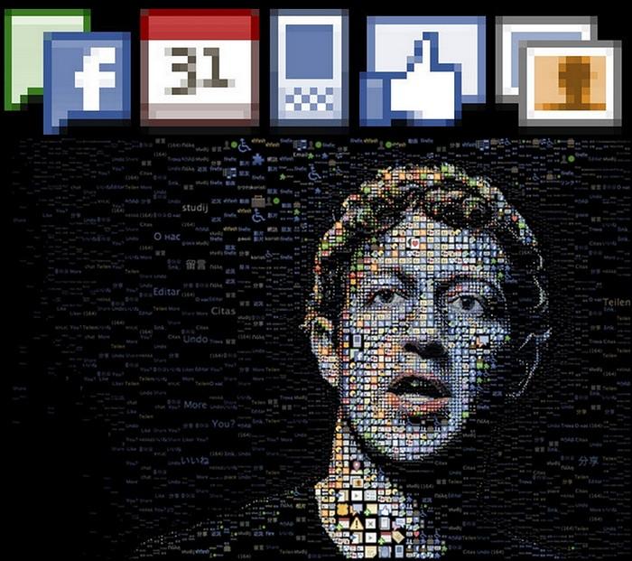 Портрет Марка Цукерберга (Mark Zuckerberg), автора социальной сети Facebook