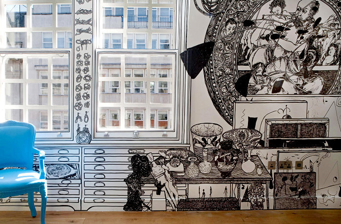 Черно-белые рисунки на стенах. Wall Art Шарлотты Манн (Charlotte Mann)