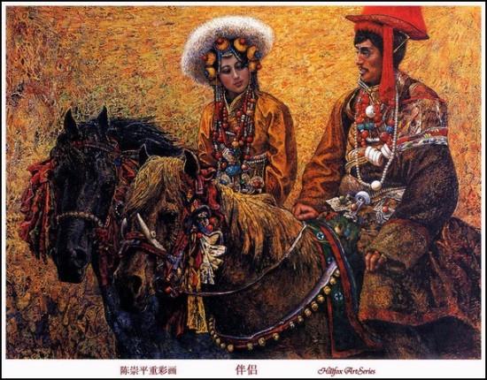 Своеобразная живопись китайского автора Chen Chong Ping
