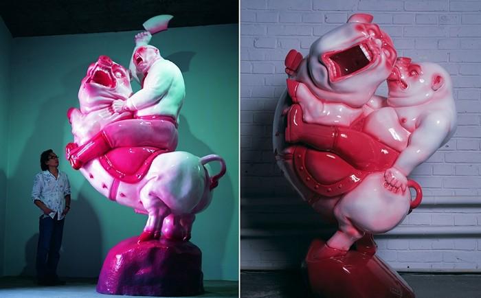 Огромные жирные свиньи в творчестве Чен Венлинга (Chen Wenling)