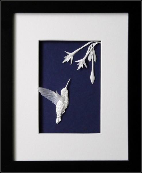 Бумажные колибри от Чон-ах Хванг (Cheong-ah Hwang)