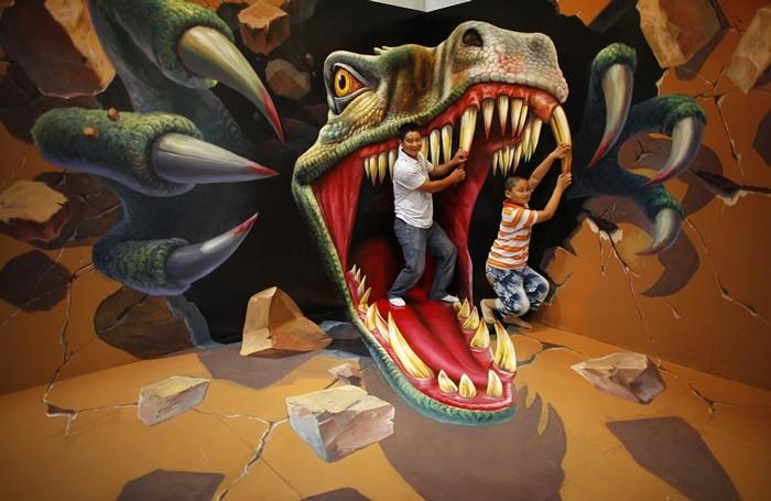 Интерактивные трехмерные картины на выставке Magic Art Special Exhibition Of China 2012