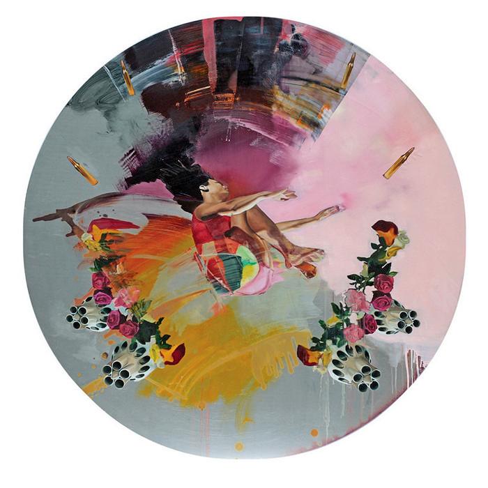Картины на круглых дощечках от Хлои Ерли (Chloe Early)