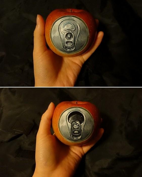 Трехмерные иллюзии в бодиарте Chooo-san