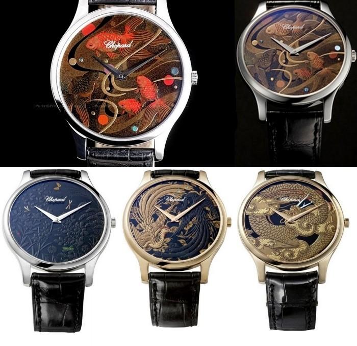 Креативные часы Chopard L.U.C. XP Urushi с росписью Kiichiro Masumura