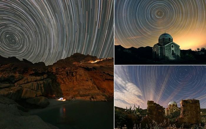 Многочасовые фотографии звездных пейзажей от Chris Kotsiopoloulos