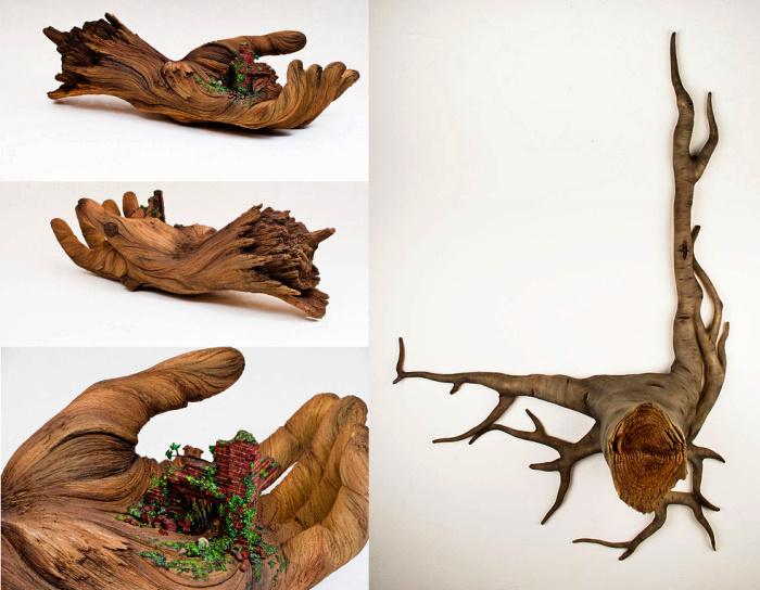 Керамические скульптуры, похожие на деревянные. Арт-проект Кристофера Дэвида Уайта (Christopher David White)